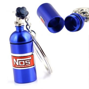 Chaveiro Garrafa Nitro NOS (Nitrous Oxide Systems) - Azul