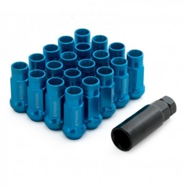 Jogo de Porca de Roda Rosca M12*1,5 (20 Porcas) EPMAN - Azul