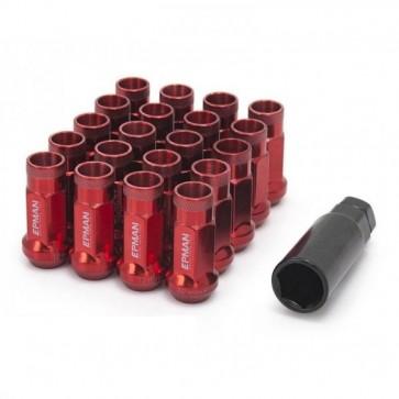 Jogo de Porca de Roda Rosca M12*1,5 (20 Porcas) EPMAN - Vermelho