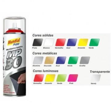 Película Liquida MP30 Spray Preto Fosco - Mundial Prime 500ml