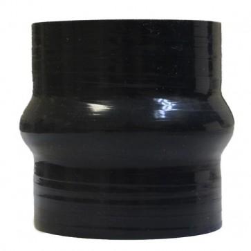 "Mangote Preto em Silicone Reto 2,5"" Polegadas (63mm) * 76mm - Epman"