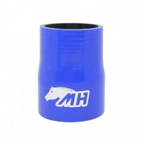 """Mangote em Silicone Redutor Reto 2-3/4"""" para 2-1/2"""" polegadas (70mm para 63mm) x 100mm - Azul"""