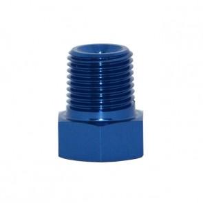 """Tampão para Rosca NPT 1/8"""" Fixação Externa - Azul"""