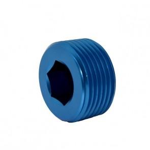 """Tampão para Rosca NPT 1"""" - Azul"""