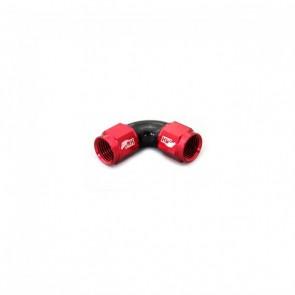Adaptador Fêmea 6AN / AN6 em Curva 90° graus - Original (Preto e Vermelho)