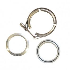 """Kit Abraçadeiras Tipo V-Band / V-Clamp + Par de Flange 100% em Alumínio 2"""" polegadas"""