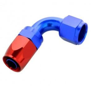 Conexão Epman 8AN 90 Graus- Azul / Vermelha