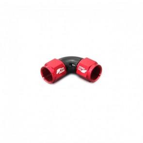 Adaptador Fêmea 8AN / AN8 em Curva 90° graus - Original (Preto e Vermelho)