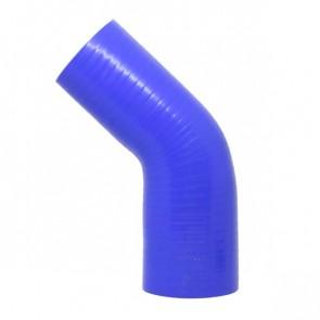 "Mangote Azul em Silicone Redutor 45º 2,75"" (70mm) para 2,5"" (63mm) * 120mm - Epman"