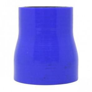 """Mangote Azul em Silicone Redutor Reto 2,5"""" (63mm) para 2"""" (51mm) * 76mm - Epman"""