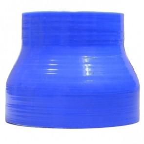 """Mangote Azul em Silicone Redutor Reto 3,5"""" (89mm) para 2,5"""" (63mm) * 76mm - Epman"""