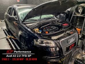 Reprogramação ECU TCU Stage  - Audi A3 8P MK1 2.0T TFSI 200cv