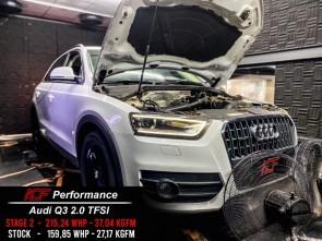 Reprogramação ECU TCU Stage  - Audi Q3 MK1 2.0TFSI 170cv