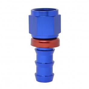 """Conexão Epman 10AN Reta para 5/8"""" de Espigão (Mangueira 15mm) - Azul / Vermelho"""