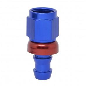 """Conexão Epman 6AN Reta para 3/8"""" de Espigão (Mangueira 9mm) - Azul / Vermelho"""