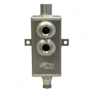 Reservatório de óleo Pequeno de 1L com respiro e conectores 10AN / AN10 - Polido