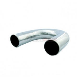 "Tubo em Aluminio Curva 180º graus 2-1/4"" polegada x 600mm"