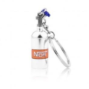 Chaveiro Garrafa Nitro NOS (Nitrous Oxide Systems) - Prata