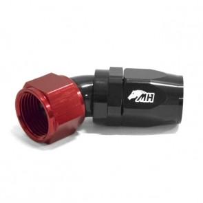Conexão 12AN / AN12 Curva 45° graus para Mangueira Aeroquip - Original (Preta e Vermelha)
