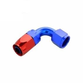 Conexão Epman 10AN 90 Graus- Azul / Vermelha