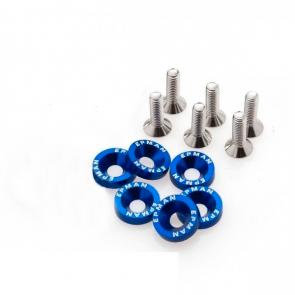Kit de Arruela Billet Universal com parafuso M8 EPMAN - Azul