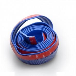 Bumper de Borracha Adesivo para Para-Choque Aerodinâmico 2.5 Metros - Azul (Fibra de Carbono)