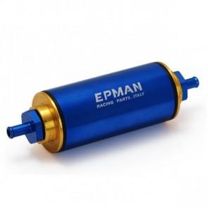 Filtro de Combustível Billet Esportivo Entrada 8.6mm 100 Microns - Azul