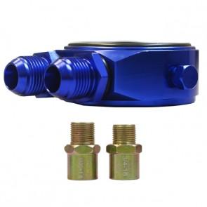 Suporte Filtro De Óleo Sandwich Plate Epman P/ Radiador Óleo - Azul