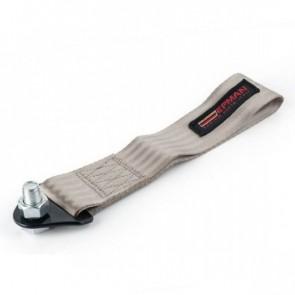 Engate Reboque Esportivo Universal de Tecido (Tow Strap) fixação c/ parafuso passante EPMAN - Cinza