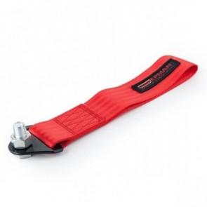 Engate Reboque Esportivo Universal de Tecido (Tow Strap) fixação c/ parafuso passante EPMAN - Vermelho