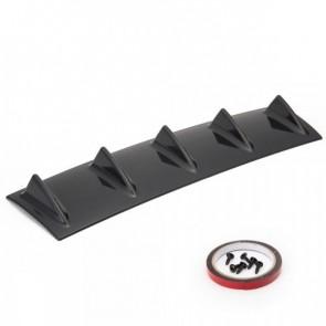 Kit Spoiler Para-Choque Traseiro Universal 5 Aletas Difusor Lip 23'' Epman - Preto