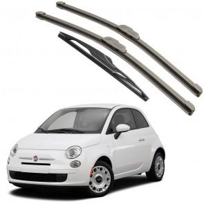 Kit Palhetas Dianteira e Traseira para Fiat 500 Ano 2010 A Atual