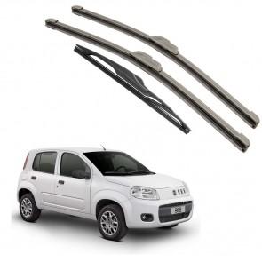 Kit Palhetas Dianteira e Traseira para Fiat Uno Ano 2009 A 2014