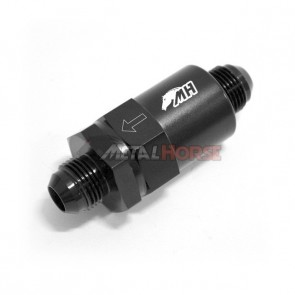 Filtro de Combustível 8AN / AN8 Macho Cônico - 150 Microns - Elemento de Inox - Preto
