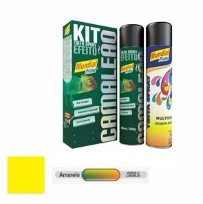 Kit Tinta Spray Camaleão Amarelo