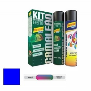 KIT Tinta Spray Camaleão Azul