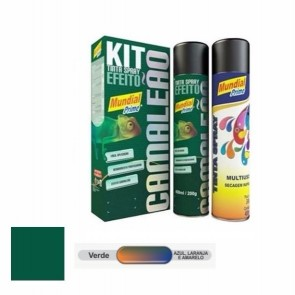 Kit Tinta Spray Camaleão Verde