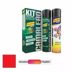 Kit Tinta Spray Camaleão Vermelho