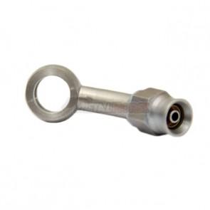Conexão tipo Banjo 3AN / AN3 para Parafuso M10 - 10.2mm Curva 45° graus para Mangueira PTFE  - Inox