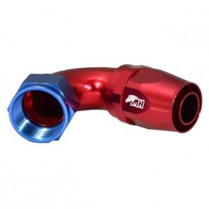 Conexão 16AN / AN16 Curva 120° graus para Mangueira Aeroquip - American (Azul e Vermelho)