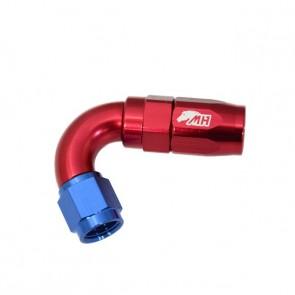 Conexão 4AN / AN4 Curva 120° graus para Mangueira Aeroquip - American (Azul e Vermelho)