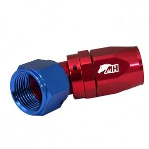 Conexão 12AN / AN12 Curva 45° graus para Mangueira Aeroquip - American (Azul e Vermelho)