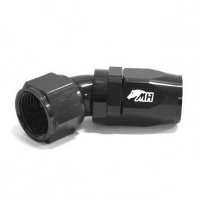 Conexão 12AN / AN12 Curva 45° graus para Mangueira Aeroquip - Black Edition (Preto)