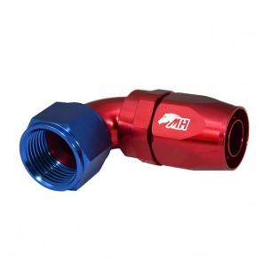 Conexão 12AN / AN12 Curva 90° graus para Mangueira Aeroquip - American (Azul e Vermelho)