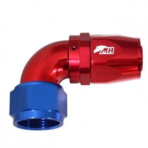 Conexão 16AN / AN16 Curva 90° graus para Mangueira Aeroquip - American (Azul e Vermelho)