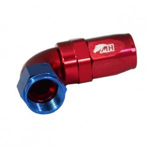 Conexão 8AN / AN8 Curva 90° graus para Mangueira Aeroquip - American (Azul e Vermelho)