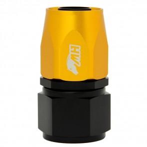 Conexão 12AN / AN12 Reta para Mangueira Aeroquip - Colors (Corpo Preto - Porca Dourada)