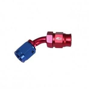 Conexão 3AN / AN3 Curva 45° graus para Mangueira PTFE - American (Azul e Vermelha)