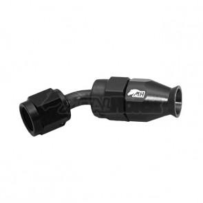 Conexão 4AN / AN4 Curva 45° graus para Mangueira PTFE - Black Edition (Preta)