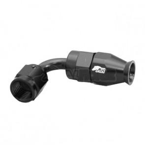 Conexão 4AN / AN4 Curva 90° graus para Mangueira PTFE - Black Edition (Preta)